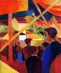 Tightrope Walker by  August Macke (Painting ID: EI-0343-KA)