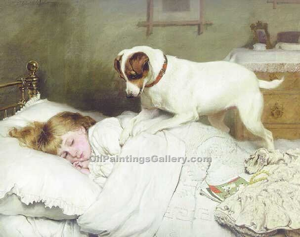 """Time to wake up"" by  Charles Burton Barber"