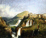 Tivoli Waterfalls by  Ippolito Caffi (Painting ID: LA-2583-KA)