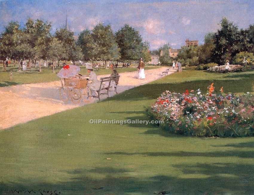 """Tompkins Park Brooklyn"" by  William Merritt Chase"