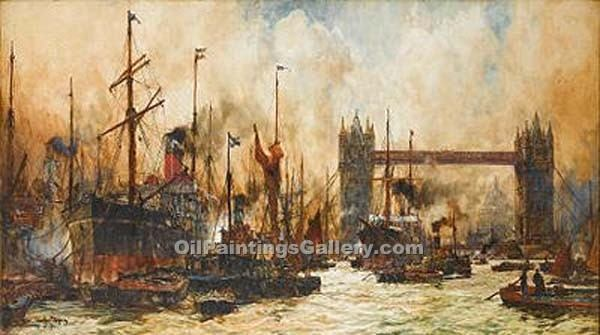 """Tower Bridge"" by  Charles Edward Dixon"