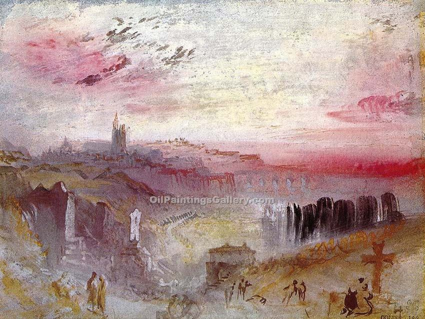 """Town at Suset"" by  William Turner"