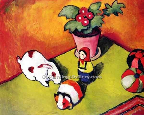 """Toys"" by  August Macke"