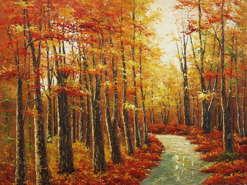 Trail Through Deep Woods Painting Id La 5893 Ka