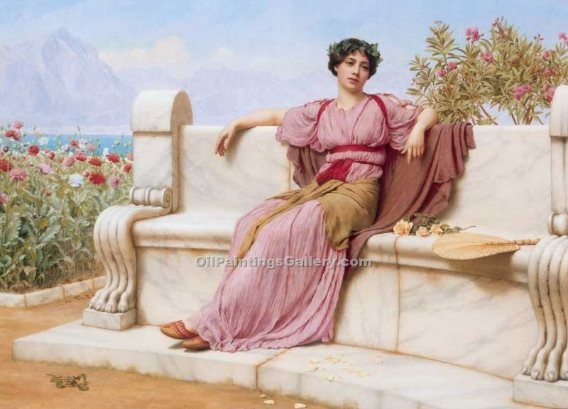 """Tranquillity"" by  John William Godward"