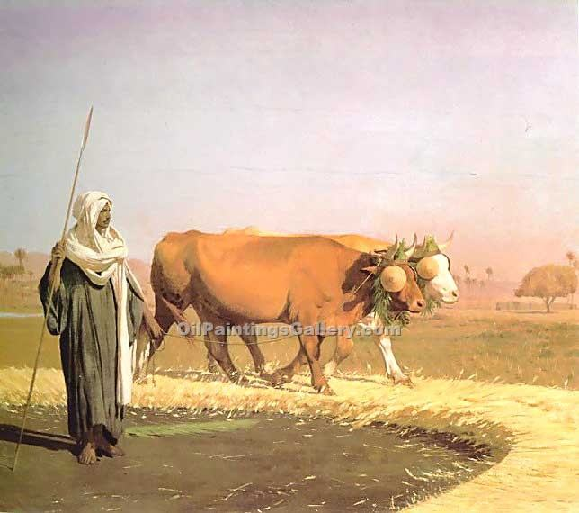 """Treading out the Grain in Egypt"" by  Jean Leon Gerome"