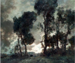 Treeline at Dusk by  Francois Cachoud (Painting ID: LA-2542-KA)