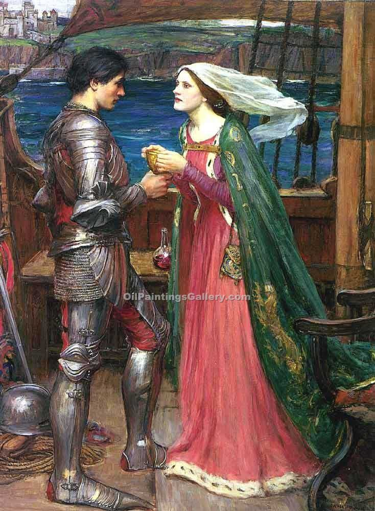 """Tristan and Isolde with the Potion"" by  John William Waterhouse"