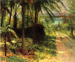 Tropical Landscape by  Albert Bierstadt (Painting ID: LA-3423-KA)