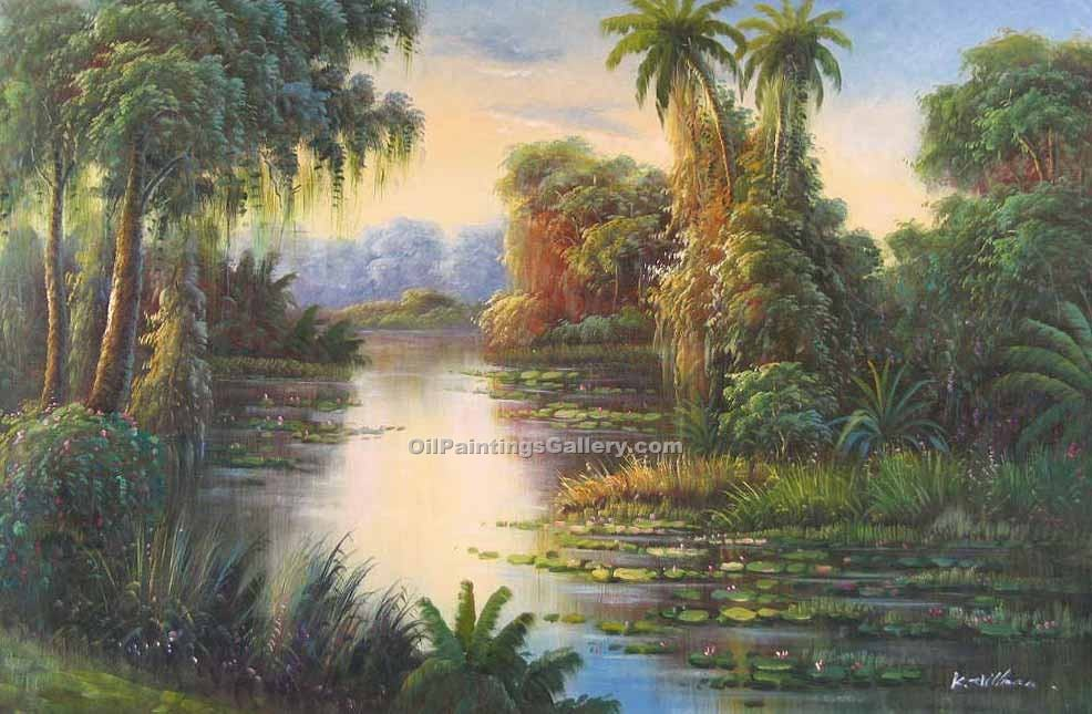Buy Tropical Oil Painting Online -  Art Reproductions | Realism & Naturalism styles