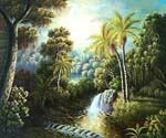 Tropical Scene 10 Oil Painting (ID: LA-6110-A)