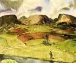 Trout Stream and Mountains 35 by  George Bellows (Painting ID: GE-2235-KA)