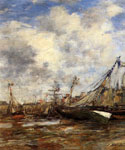 Trouville Low Tide by  Eugene Louis Boudin (Painting ID: LA-2414-KA)