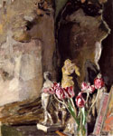 Tulips and Statuettes by  Edouard Vuillard (Painting ID: SL-0403-KA)