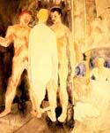 Turkish Bath with Self Portrait by  Charles Demuth (Painting ID: AB-0124-KA)