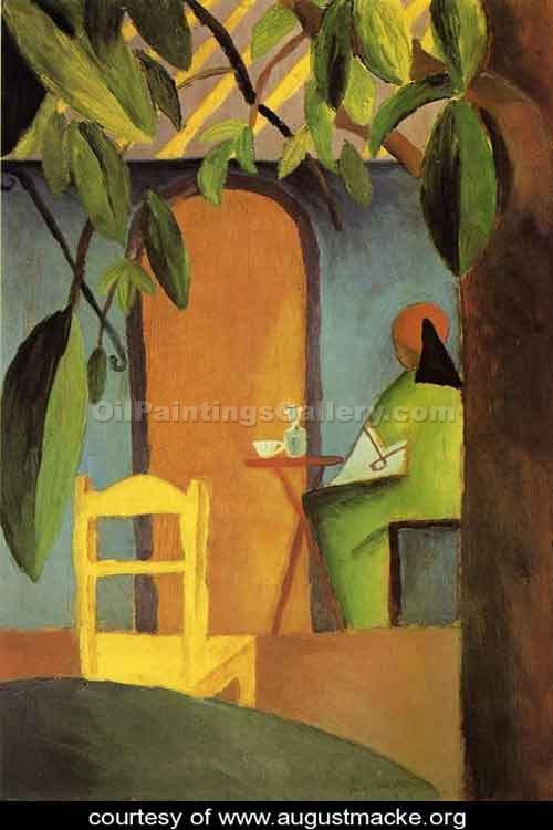 Turkish-Cafe by August Macke | Modern Art Gallery Online - Oil Paintings Gallery