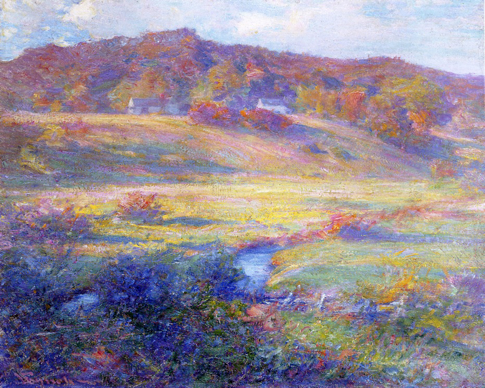 """Turquoise, Rose, and Gold"" by  Robert Vonnoh"