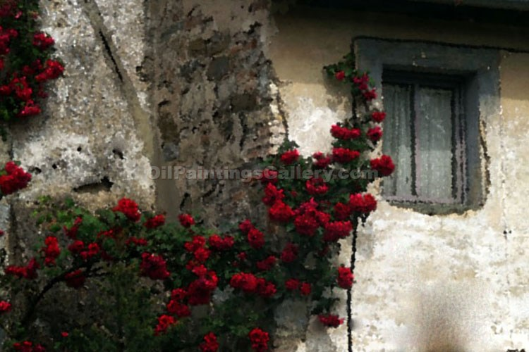 Buy Oil Painting Landscapes Online | Realism & Naturalism styles - Tuscan Flowers by a Window