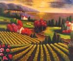 Tuscan Vineyard 30  (Painting ID: LA-5430-KA)