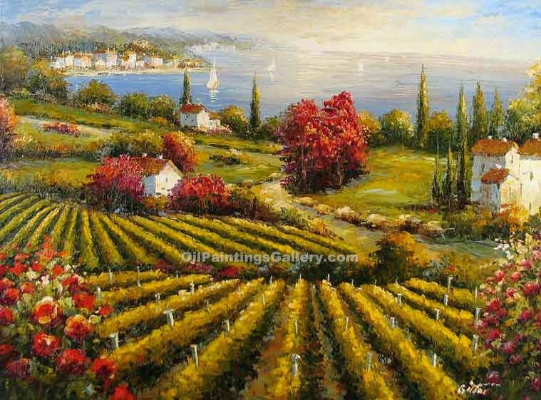 Tuscan Vineyard 31 Painting Id La 5431 Ka