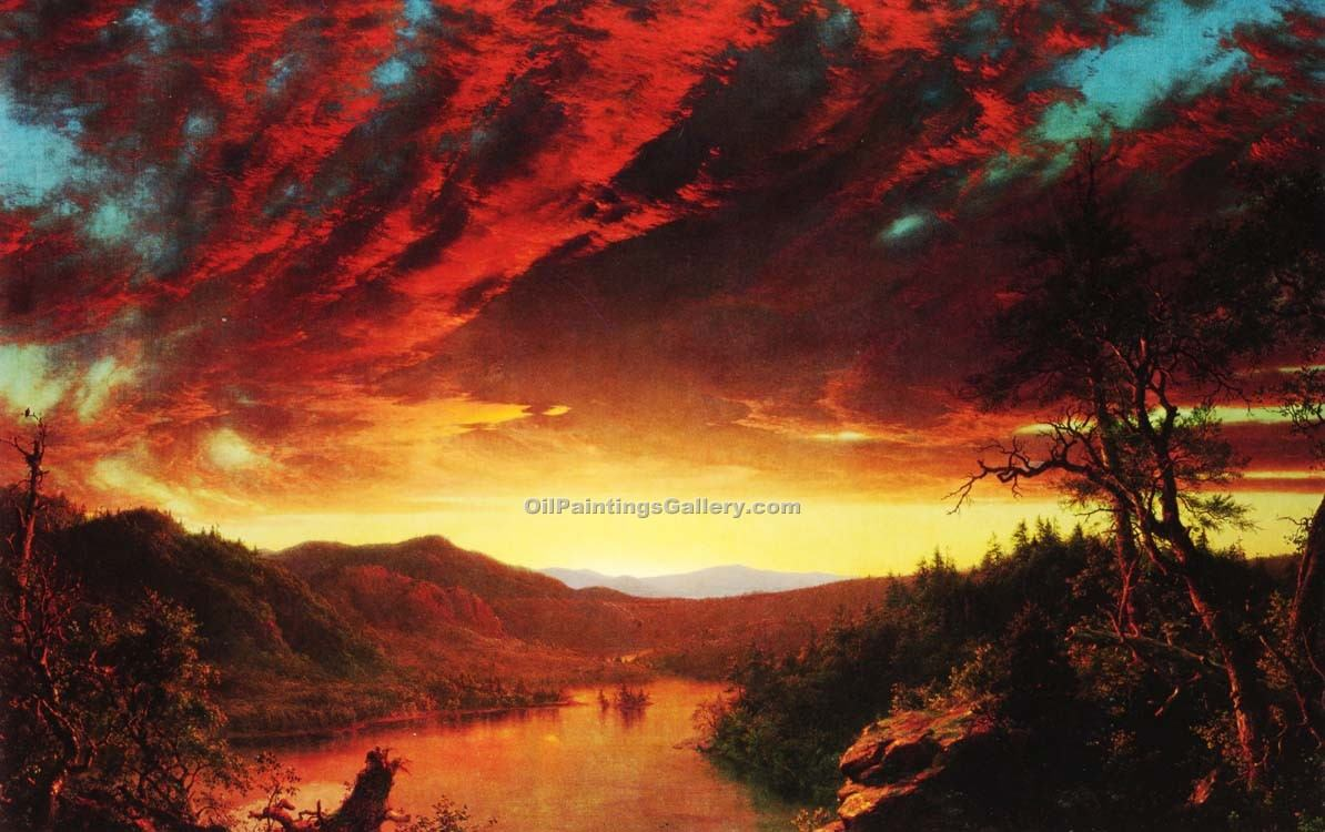 """Twilight in the Wilderness"" by  Frederic Edwin Church"