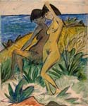 Two Bathers by  Otto Mueller (Painting ID: GA-0182-KA)