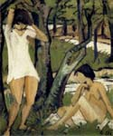Two Bathing Girls by  Otto Mueller (Painting ID: GA-0180-KA)