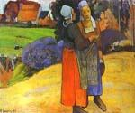 Two Breton Women on the Road by  Paul Gauguin (Painting ID: GA-0228-KA)