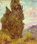 Two Cypress by  Vincent Van Gogh (Painting ID: VG-0215-KA)