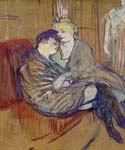 Two Girlfriends by  Henri Toulouse Lautrec (Painting ID: ED-1110-KA)