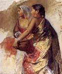 Two Nautch Girls by  Edwin Lord Weeks (Painting ID: GE-1234-KA)
