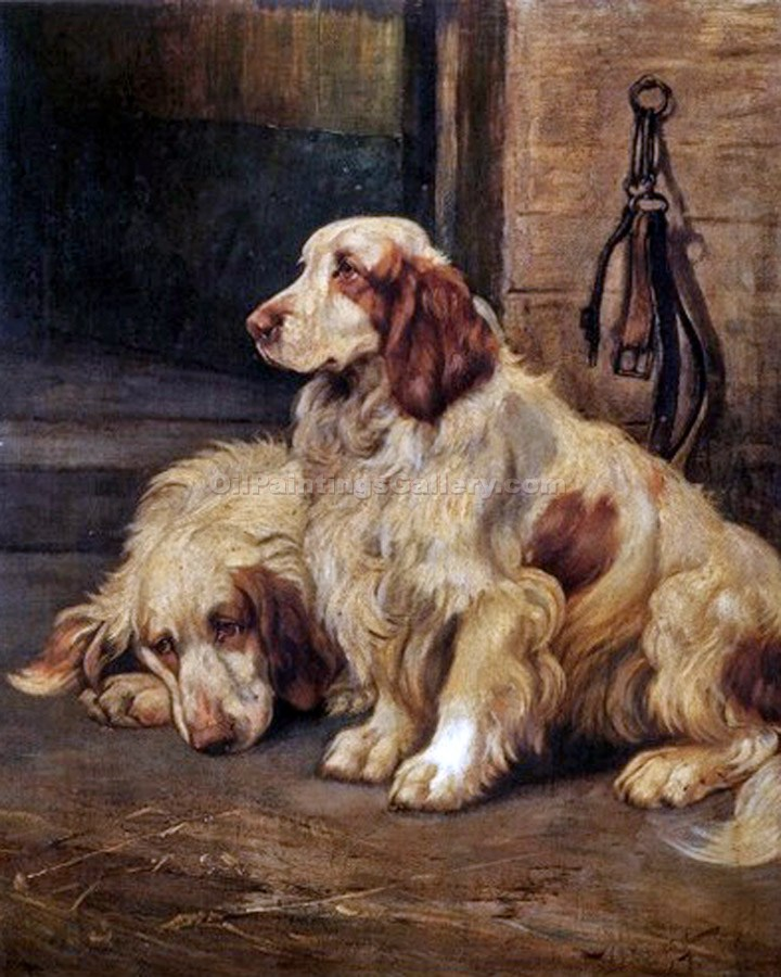 Two Setters, 1927 by Wright Barker | Art Gallery Oil Painting - Oil Paintings Gallery