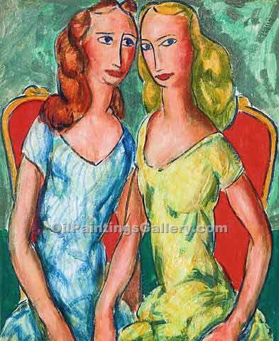 """Two Sisters 13"" by  Alfred Henry Maurer"