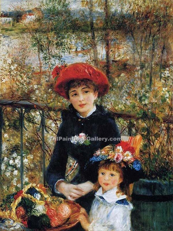 """Two Sisters on the Terrace"" by  Pierre Auguste Renoir"