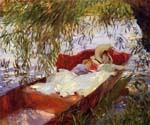 Two Women Asleep in a Punt under the Willows by  John Singer Sargent (Painting ID: EI-0427-KA)