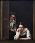 Two Women at a Window by  Bartolome Esteban Murillo (Painting ID: CL-0121-KA)