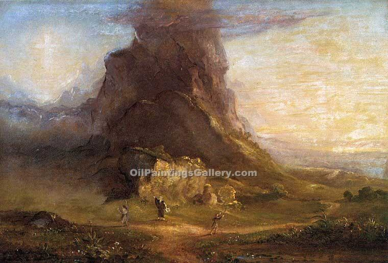 """Two Youths Enter Upon a Pilgrimage"" by  Thomas Cole"