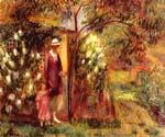 Two in a Garden by  William Glackens (Painting ID: CL-3210-KA)