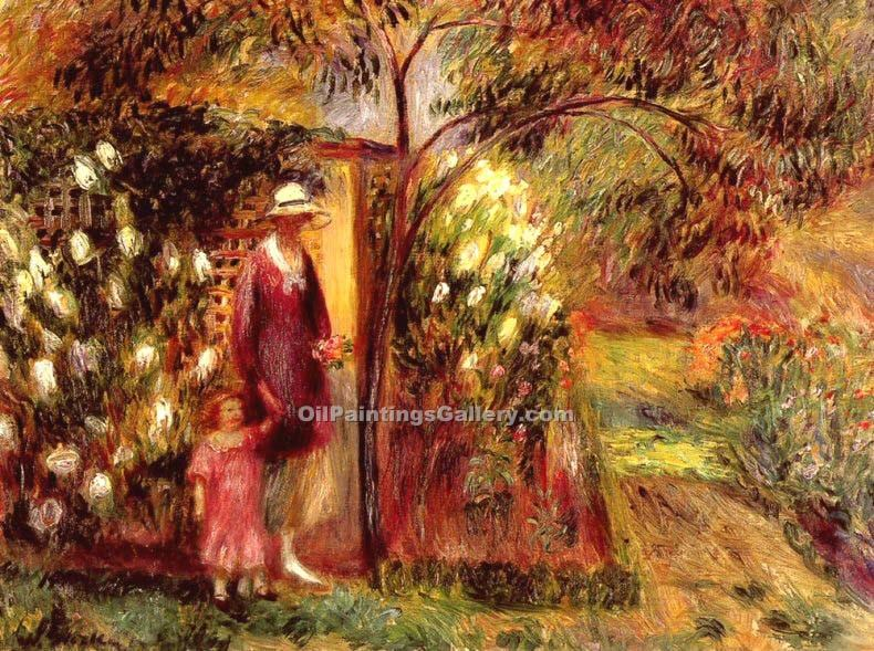 """Two in a Garden"" by  William Glackens"