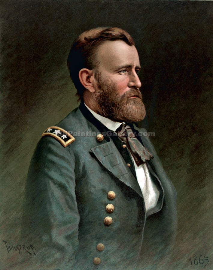 """Ulysses S. Grant, 18th President, Painted by Thur de Thulstrup"""