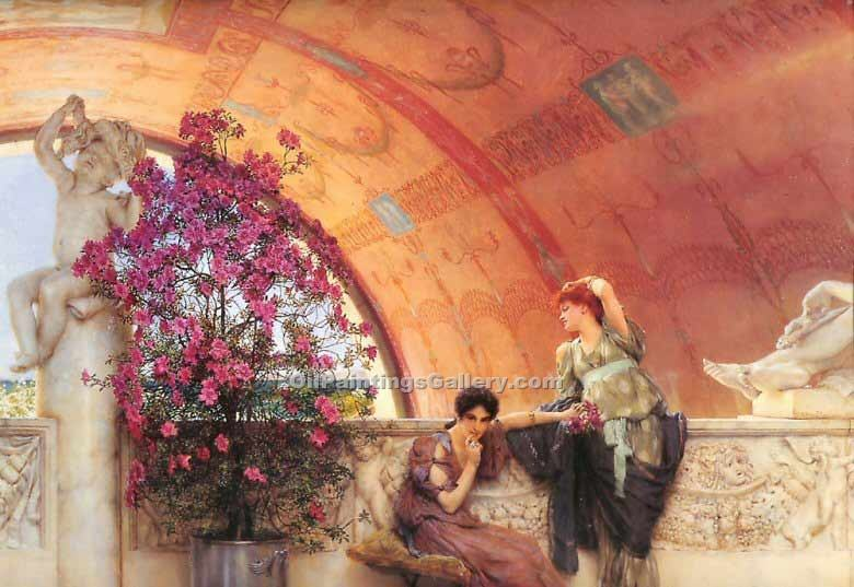 """Unconscious Rivals"" by  Sir Lawrence Alma Tadema"