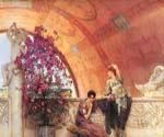 Unconscious Rivals by  Sir Lawrence Alma Tadema (Painting ID: EI-1306-KA)