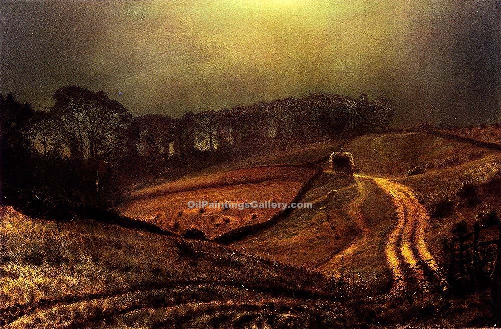 Under The Harvest Moon By John Atkinson Grimshaw Painting