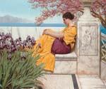 Under the Blossom that Hangs on the Bough by  John William Godward (Painting ID: CL-4353-KA)