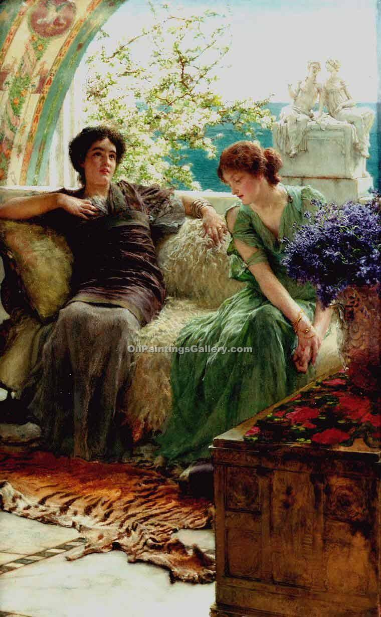 Unwelcome Confidence by Sir LawrenceAlma Tadema | Modern Painting Gallery - Oil Paintings Gallery
