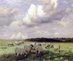 Upland Pastures by  Wright Barker (Painting ID: AN-2285-KA)