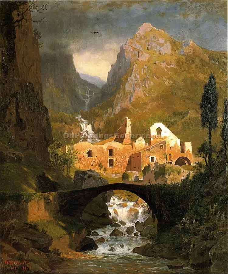 """Valle dei Molini - Amalfi"" by  William Stanley Haseltine"