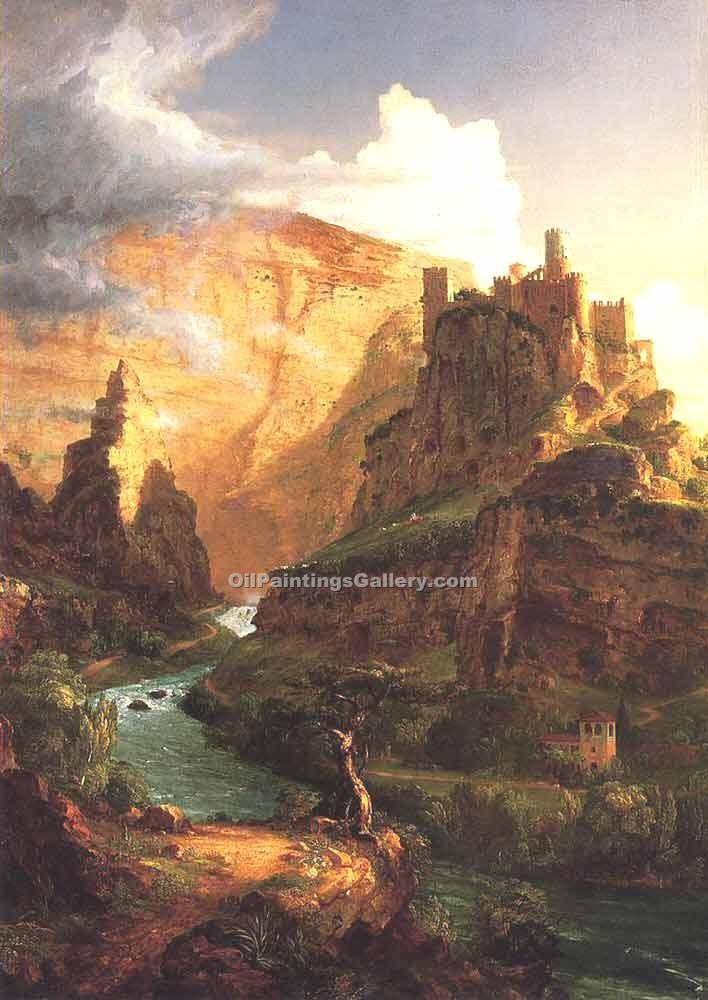 """Valley of the Vaucluse"" by  Thomas Cole"