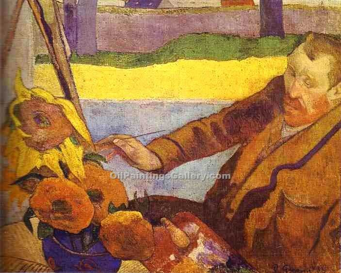 """Van Gogh Painting Sunflowers "" by  Paul Gauguin"
