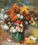 Vase of Chrysanthemums by  Pierre Auguste Renoir (Painting ID: SL-0201-KA)